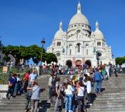 Er Basilika des heiligen Herzens von Paris Stockbilder
