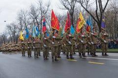 1er décembre - défilé militaire du jour national de la Roumanie Photo stock