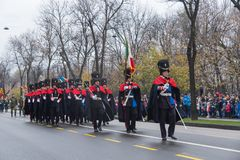 1er décembre - défilé militaire du jour national de la Roumanie Images libres de droits