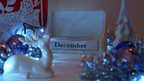 1er décembre la date bloque Advent Calendar banque de vidéos