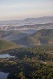 1er, décembre 2016 - une partie de vue de ville de Dalat de montagne de Pinhat dans le lac TuyenLam à la fuite Dong Vietnam de Da Photo libre de droits