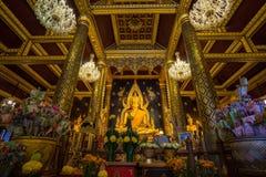 Er die meiste schöne Buddha-Skulptur in Phitsanulok thailand Stockfoto