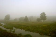 Er is een dikke mist Stock Afbeelding