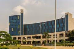 Er is het de Hoogtenwinkelcomplex van Kigali stock foto's