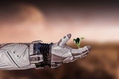 Er is het leven in ruimte Gemengde media royalty-vrije stock afbeeldingen