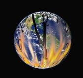 Er ist fünf bis zwölf, der Planet brennt Stockbilder