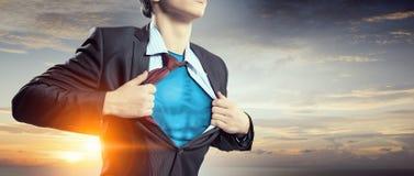 Er ist Supermanager lizenzfreie stockbilder