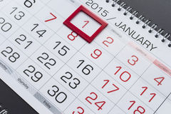 1er janvier Image stock