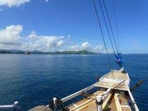 1er jour sur le bateau Photographie stock