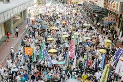 1er juillet protestation en Hong Kong Photos libres de droits