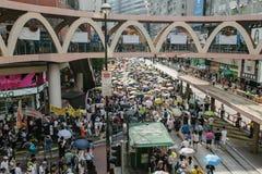 1er juillet protestation en Hong Kong Photographie stock