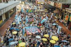 1er juillet protestation en Hong Kong Photo stock