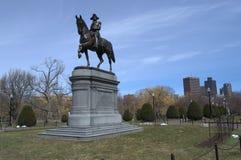 Er machte Geschichte George Washington auf einer Pferdestatue Lizenzfreie Stockfotografie