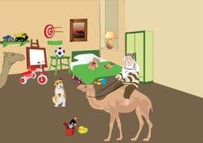 Er mag Kamele vektor abbildung