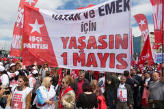 1er mai à Istanbul Image stock