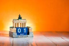 1er mai calendrier Allemagne de Fête du travail Images libres de droits