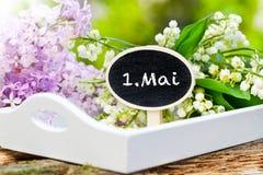 1er mai, le muguet et lilas Photographie stock libre de droits