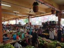 1er mai Seremban, Malaisie Marché principal connu sous le nom de Pasar Besar Seramban pendant le week-end Images libres de droits