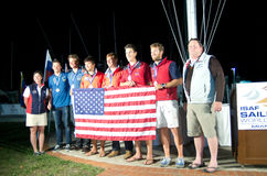49er medaglie, mondo di ISAF che naviga tazza Immagine Stock
