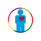Er menschliches Herz gefährdet Stockfotos