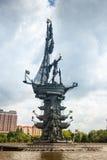 1er monument de Peter à Moscou Photos stock