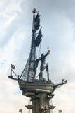 1er monument de Peter à Moscou Photo libre de droits