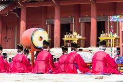 1er novembre 2014, Séoul, Corée du Sud : Cérémonie de Jerye dans le tombeau de Jongmyo Photos stock