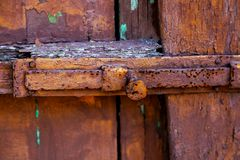 er Oberfläche der alten braunen hölzernen Beschaffenheit stockfotos