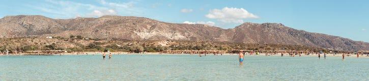 1er octobre 2017, Elafonissi, plage de la Grèce - de l'Elafonissi Photo stock