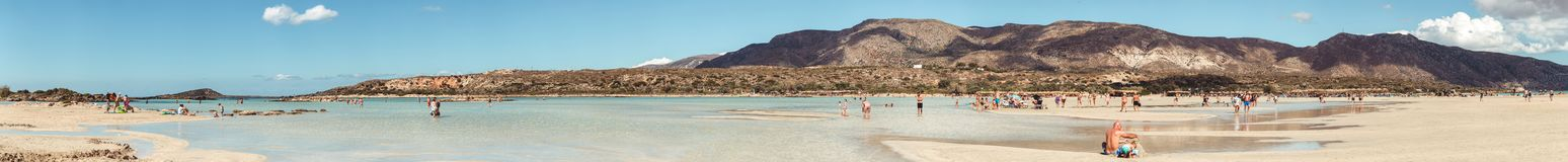 1er octobre 2017, Elafonissi, plage de la Grèce - de l'Elafonissi Photographie stock libre de droits