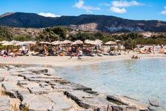 1er octobre 2017, Elafonissi, plage de la Grèce - de l'Elafonissi Photos libres de droits