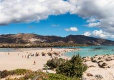 1er octobre 2017, Elafonissi, plage de la Grèce - de l'Elafonissi Photo libre de droits