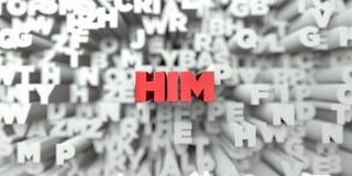 ER - Roter Text auf Typografiehintergrund - 3D übertrug freies Archivbild der Abgabe stock abbildung