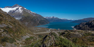 1er septembre 2016 - vue de glacier de transport d'été de Sc Alaska de passage de transport Image libre de droits