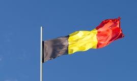 Er Staatsflagge des Landes Belgien Stockbild