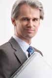 Er und sein Notizbuch Lizenzfreies Stockfoto