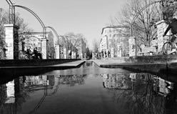 Er zijn eindeloze park en het lopen gebieden in Berlijn, Duitsland Stock Fotografie