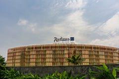 Er zijn Radisson Blu Hotel royalty-vrije stock foto