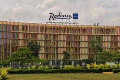 Er zijn Radisson Blu Hotel stock afbeelding