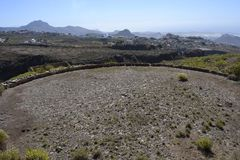 Era circle Tenerife. An old era, a stone circle, in the mountains near Arona on the southern coast of the Canary island Tenerife Royalty Free Stock Photography