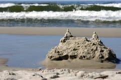 Era o castelo da areia Imagem de Stock