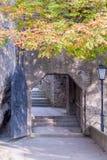 1633 era St George & x27; bastione di s nel castello di Slazburg & in x28; Hohensalzburg& x29; Fotografie Stock