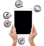 The era of touch screen technology Stock Photos