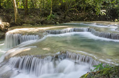 Era-wan waterfall National Park at Kanchanaburi, Thailand Stock Photos