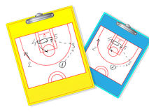 Erasable basketball coach board Stock Photography