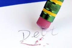 erase задолженности кредита карточки Стоковые Фото