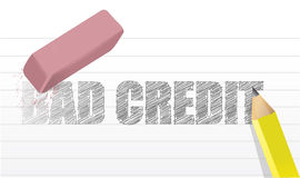 Erase bad credit concept illustration design Stock Image