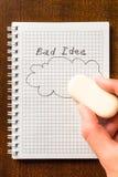 Erase the bad idea Stock Photos