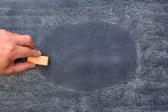 Erase blackboard. Stock Photography