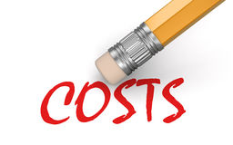 Erase Costs (clipping path included) Royalty Free Stock Photo